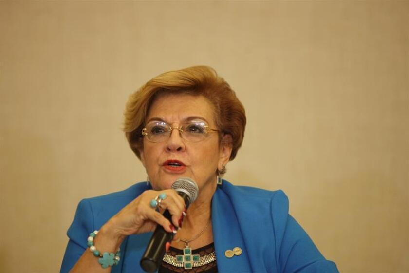 La coordinadora del mecanismo y relatora de la Comisión Interamericana de Derechos Humanos (CIDH), Esmeralda Arosamena de Troitino. EFE/Archivo