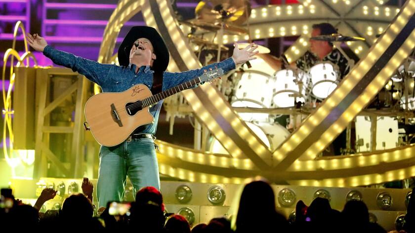 Garth Brooks performs Friday night at the Honda Center in Anaheim.