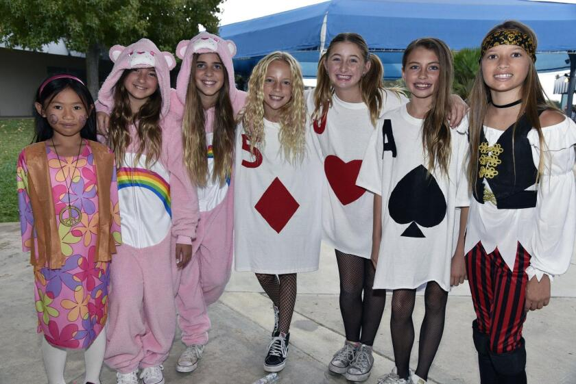 Naomi, Harmony, Noelle, Abby, Julia, Lauren, Bella