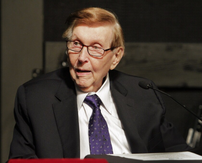 """A Los Angeles County Superior Court judge determined there was """"no urgency"""" in deciding whether ailing media mogul Sumner Redstone was mentally fit last month when he removed his former girlfriend as the agent in charge of his advance health care directive. Redstone pictured here in 2013."""