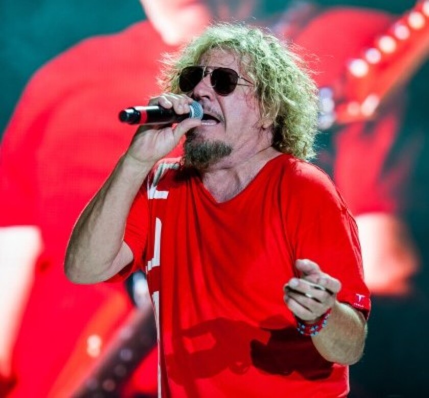 Rock star Sammy Hagar's High Tide Beach Party & Car Show, which had been scheduled for this weekend at Huntington State Beach, was canceled after it was denied a state permit, organizers said.