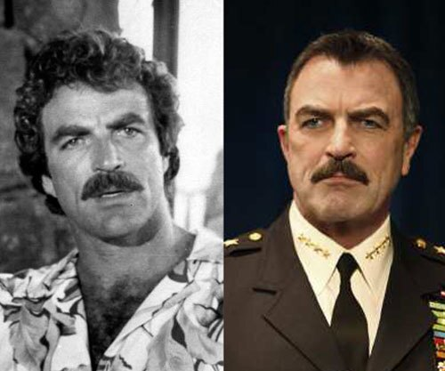 """For some people, it's all about the 'stache. Take Tom Selleck. Whether playing a Hawaiian private eye in """"Magnum P.I."""" in the '80s or a police commissioner on the new CBS police drama """"Blue Bloods,"""" the actor is accompanied by his trusty mustache. But of course he's not the only pop culture figure to sport a serious soup-strainer. Here are some photos of other mustaches, followed by photos of their rightful owners. Can you name them all? Photo: Selleck in """"Magnum P.I.,"""" left, and """"Blue Bloods"""""""