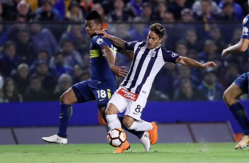 Alejandro Hohberg from Alianza Lima May 16, 2018, at a match between Boca Juniors and Alianza Lima at La Bombonera stadium in Buenos Aires EPA-EFE FILE/David Fernández