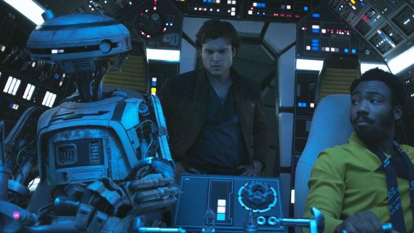 Alden Ehrenreich is Han Solo, Donal Glover is Lando Calrissian and Phoebe Waller-Bridge is L3-37 in