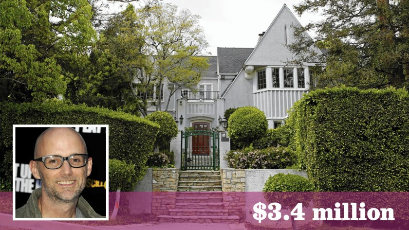 Moby paid $3.4 million for this 1920s home in the Oaks area of Los Feliz. It has stone fireplaces and 4,600 square feet of space.