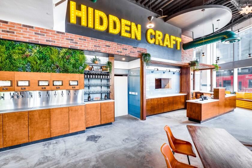 Hidden Craft beer hall in downtown San Diego