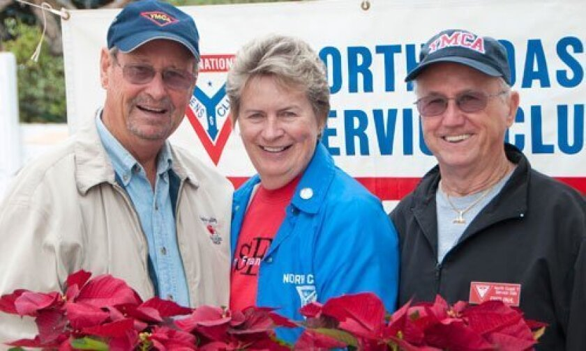 From left: Edgar Engert, Renate Engert and Fred Pahl, longtime leaders of the North Coast Y Service Club.