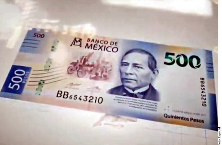 Presenta Banxico primer billete de nueva familia con denominación 500 pesos con la imagen de Benito Juárez.
