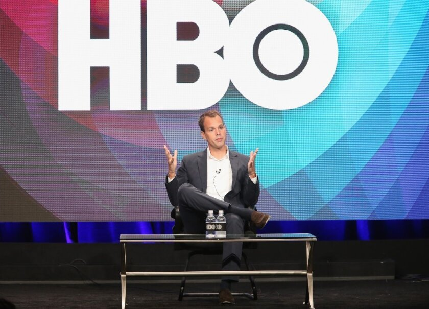 President of HBO Programming Casey Bloys speaks onstage during the Executive Session panel discussion at the HBO portion of the 2016 Television Critics Assn. Summer Tour.
