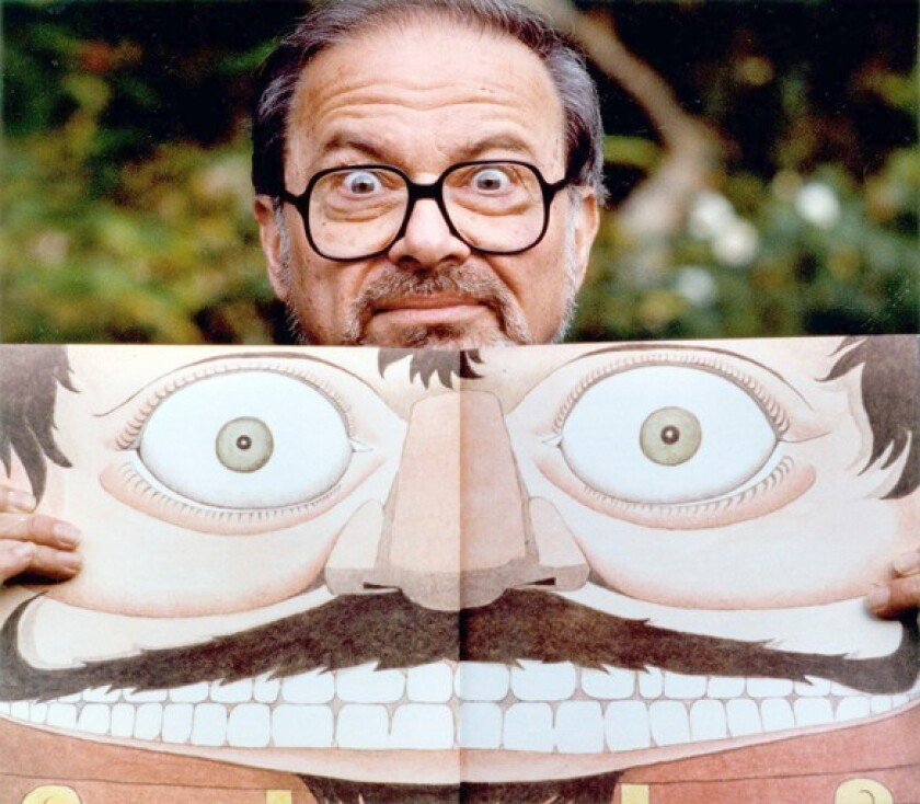 Author and illustrator Maurice Sendak with a self portrait in 1991.