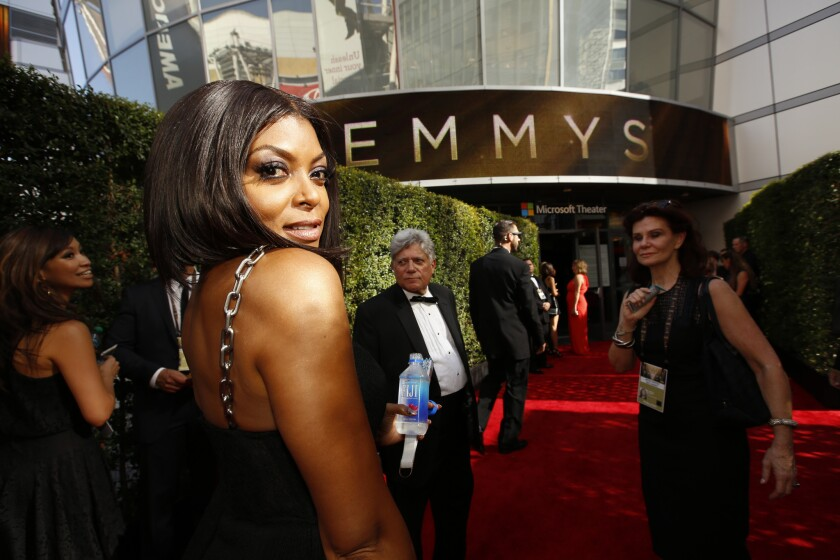 Taraji P. Henson arrives at the 67th Annual Primetime Emmy Awards at the Microsoft Theater.