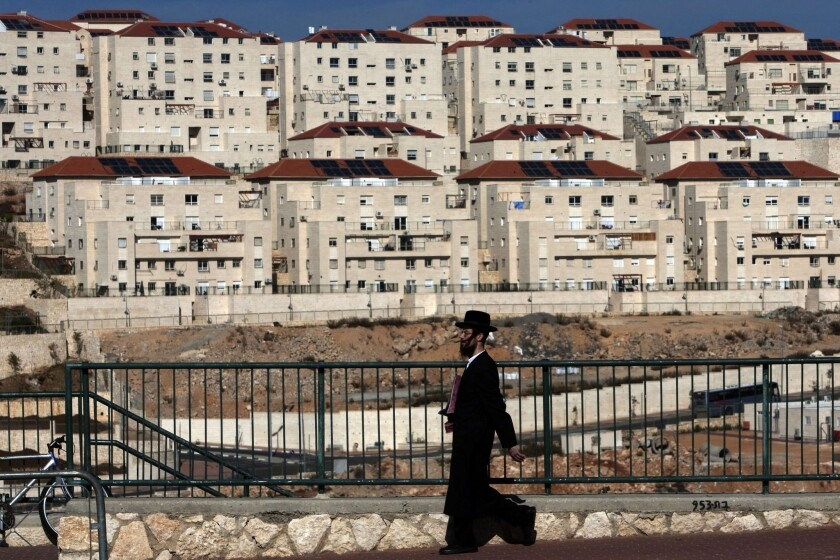 The West Bank settlement of Beitar Elit, an ultra-Orthodox bastion south of the biblical Palestinian town of Bethlehem, is seen.