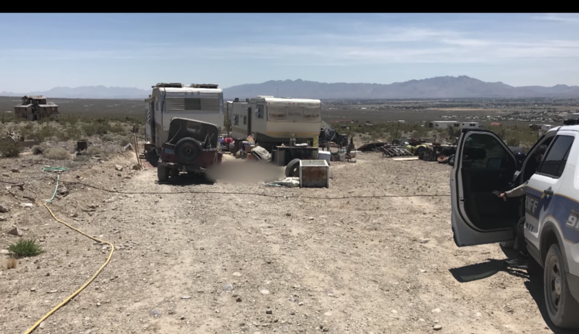 Location in Pahrump, Nev., where Troy Ray died, possibly because of the Ridgecrest quakes