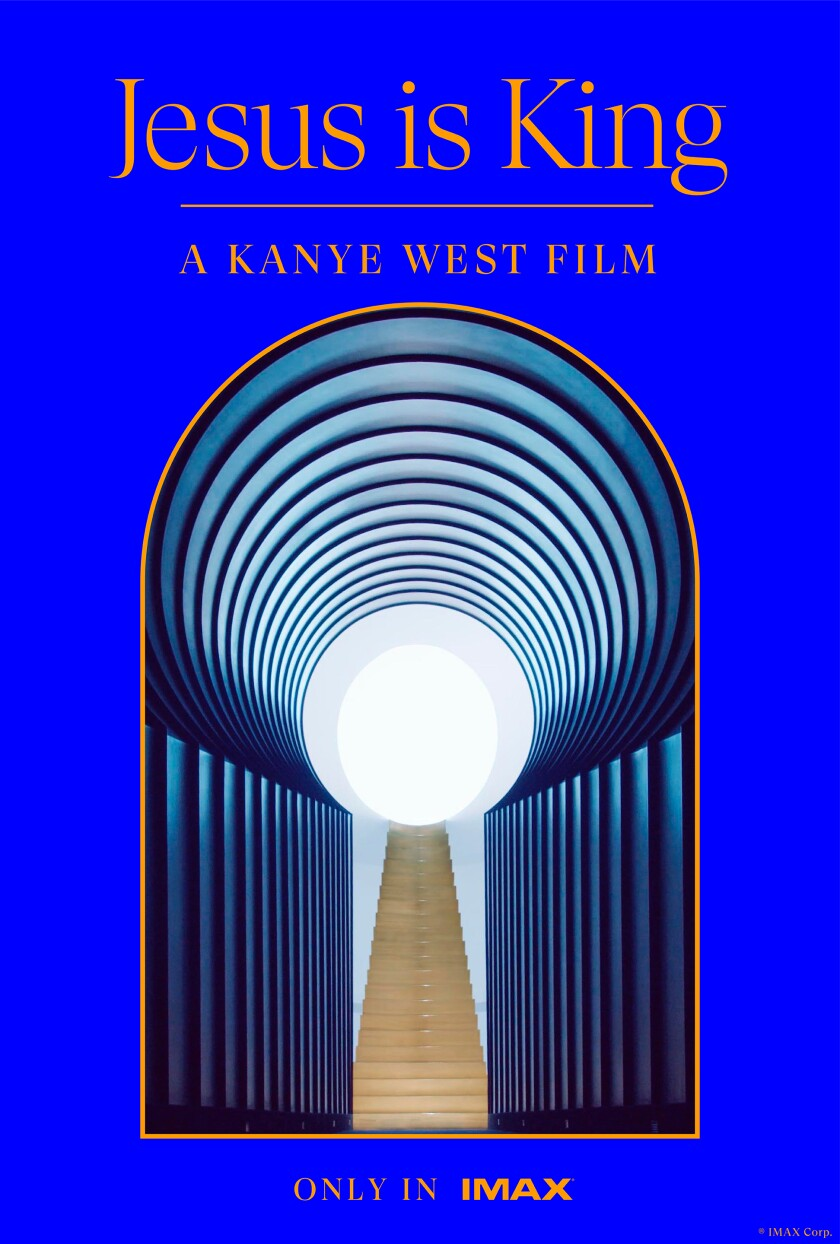 "Kanye West's ""Jesus Is King"" movie poster"