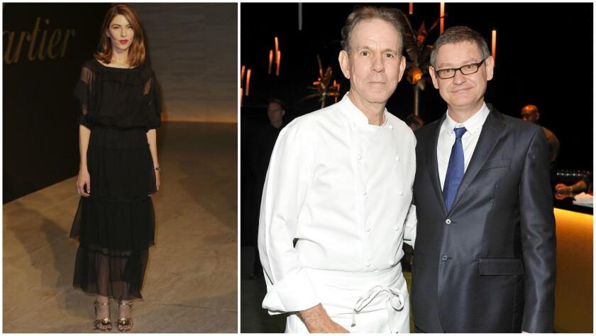 Filmmaker Sofia Coppola, from left, chef Thomas Keller and Cartier International Chief Executive Cyr