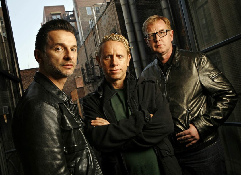 A 2009 photo of Depeche Mode band members Dave Gahan, Martin Gore, and Andrew Fletcher. (Los Angeles Times)