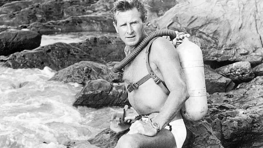 "AA.1A.0315.seahunt–– 1959 file photo of Lloyd Bridges from TV series, ""Sea Hunt"""