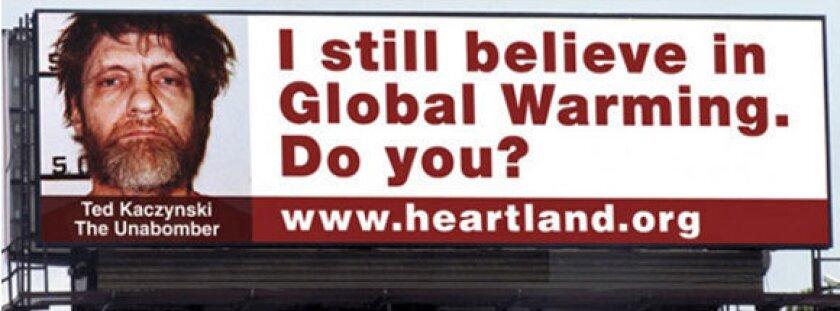 Unabomber billboard continues to hurt Heartland Institute