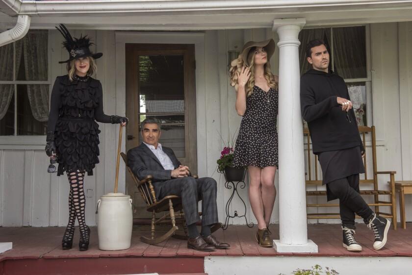 The cast of Schitt's Creek in season 2.