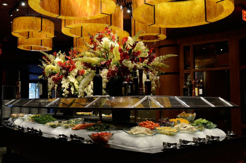 More than 30 items are offered at Fogo de Chão's gourmet salad bar.