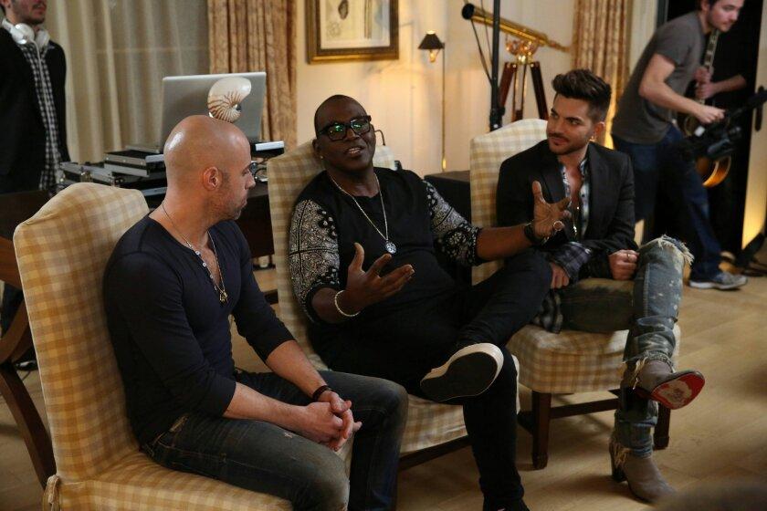 From left: Chris Daughtry, Randy Jackson and Adam Lambert.