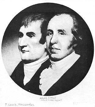 Meriwether Lewis, left, and William Clark.