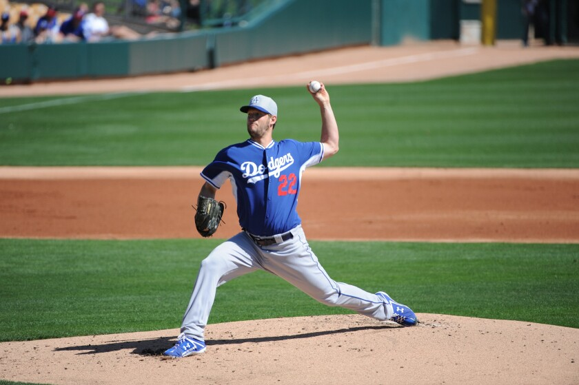 Clayton Kershaw gave up a home run and three hits over three innings in his second spring training appearance Tuesday against the Colorado Rockies.
