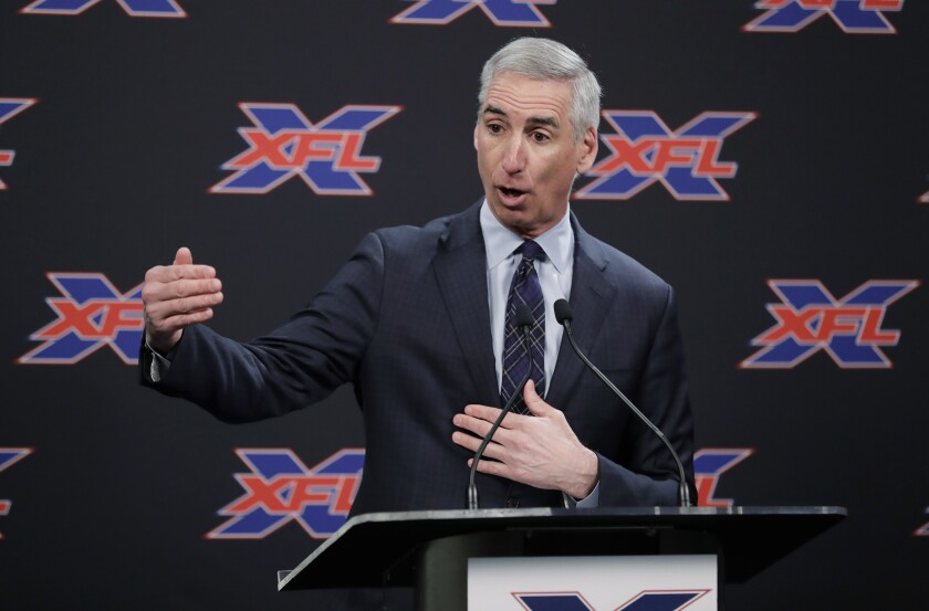 The XFL, which played one season in 2001, will return in 2020 with eight teams that include the Houston Roughnecks and New York Guardians.