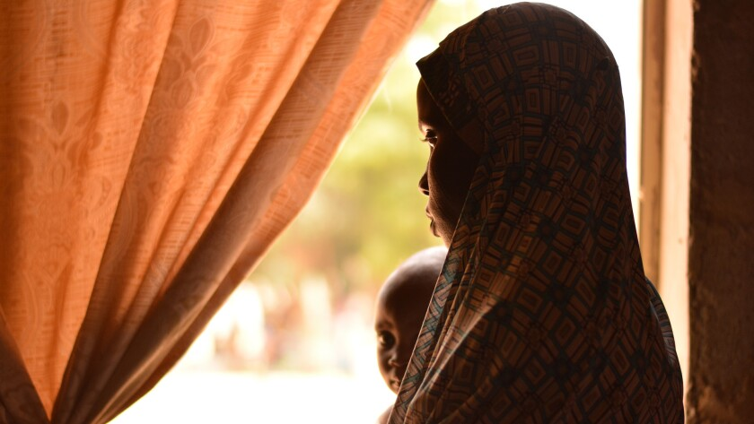 Fatima, 20, was a keen school student when she was kidnapped by Nigerian militants, Boko Haram, from her town in north eastern Nigeria, two years ago and forced into marriage.