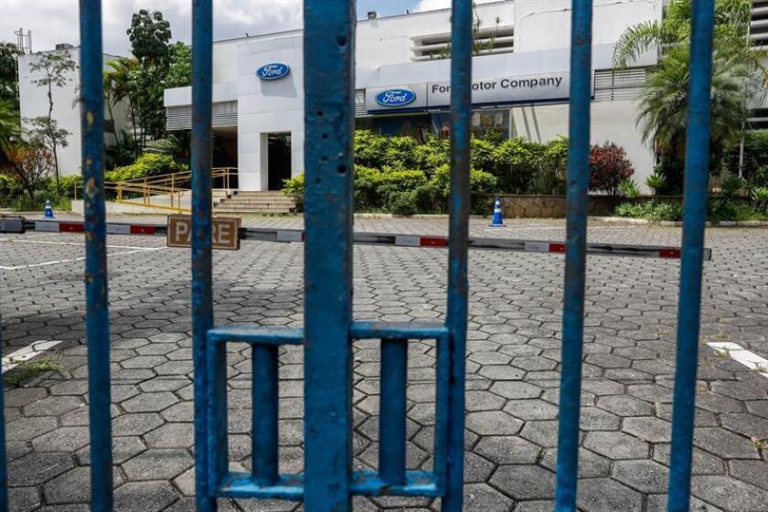 Photo from Feb. 22, 2019,of the Ford factory entrance, in Sao Bernardo do Campo, in Sao Paulo Brazil.Sao Paulo industrial belt reinvents itself amid global auto industry change. EPA- EFE/ Fernando Bizerra