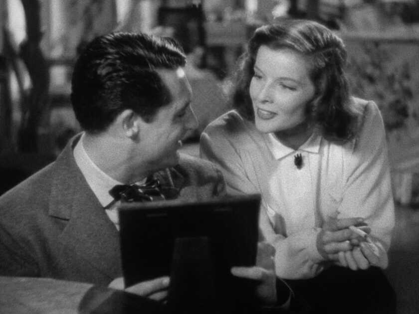 Cary Grant and Katharine Hepburn in the movie 'Holiday'