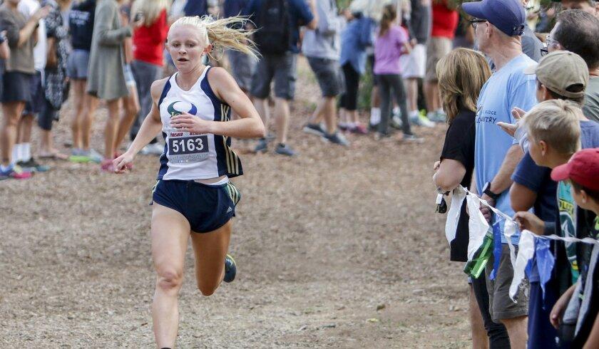 La Costa Canyon junior McKenna Brown streaks to victory in the Bronco Invitational.