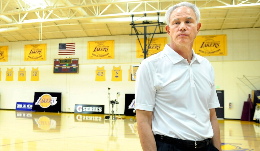 General Manager Mitch Kupchak at the Lakers' practice facility in El Segundo.