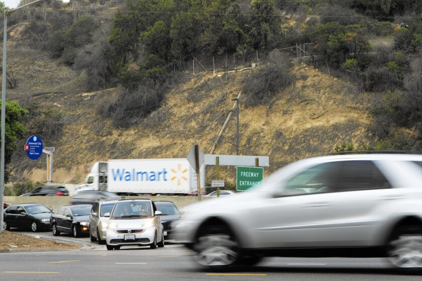 The southbound 101 Freeway offramp at Barham Boulevard will close due to Universal Studios' expansion. Neighborhood residents say traffic will get worse and commutes will get longer.
