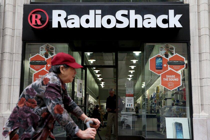 RadioShack said 175 California stores are slated for closure.