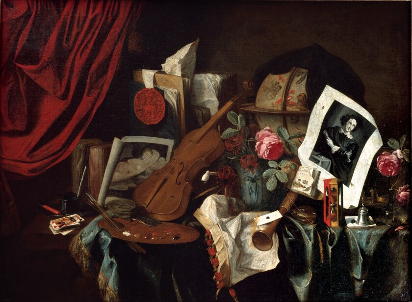 """""""Vanitas,"""" a 1600s painting by Jacques Adolphz. de Claeuw, was looted by the Nazis from a prominent Jewish art dealer."""