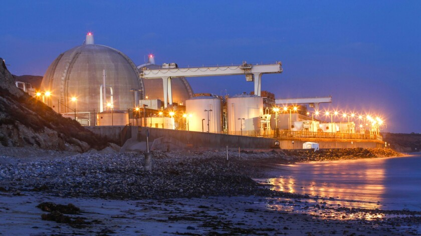 San Onofre Nuclear Generating Station is shown in 2018.