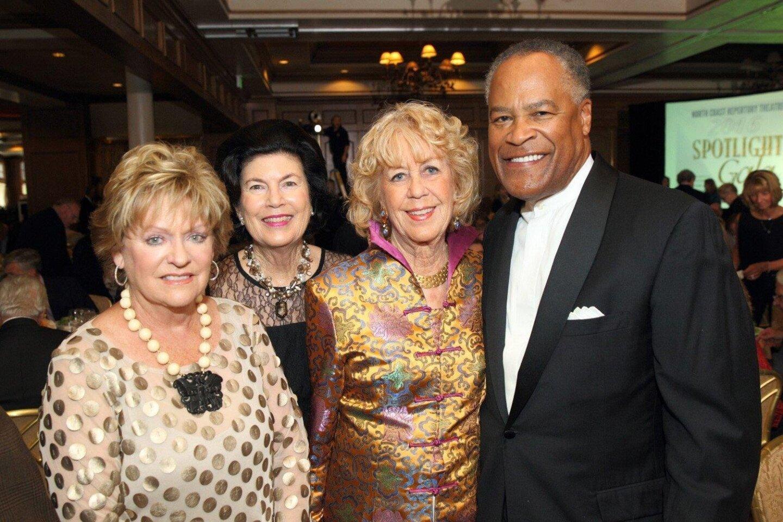 Judy Keys, Susan Winbigler, Jeri Rovsek, honoree Jessie J. Knight, Jr.