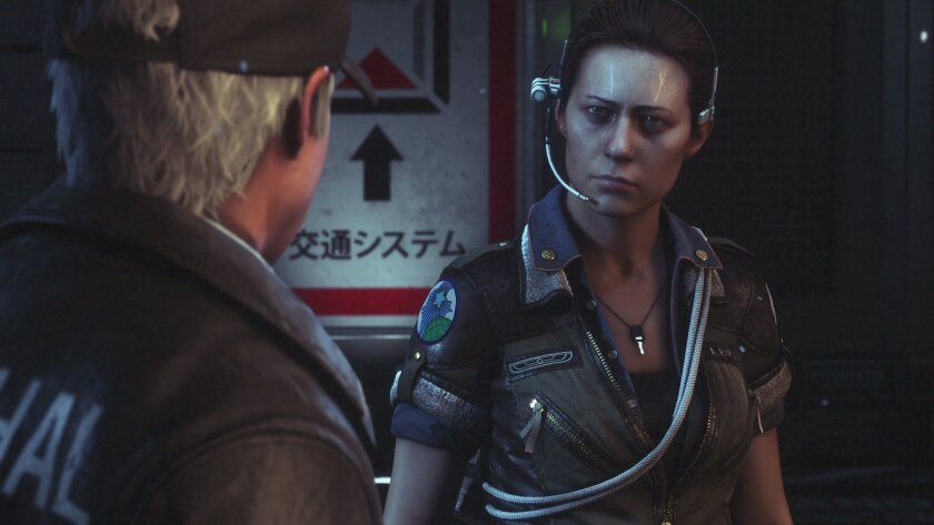 """This photo provided by Sega shows a scene from the video game, """"Alien: Isolation."""" The video game out Tuesday, Oct. 7, 2014, aims to pay interactive tribute to filmmaker Ridley Scott's seminal 1979 sci-fi horror movie. (AP Photo/Sega)"""