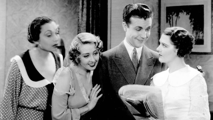 """Aline MacMahon, Joan Blondell, Dick Powell and Rudy Keeler in """"Gold Diggers of 1933."""""""