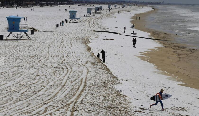 Huntington Beach hail