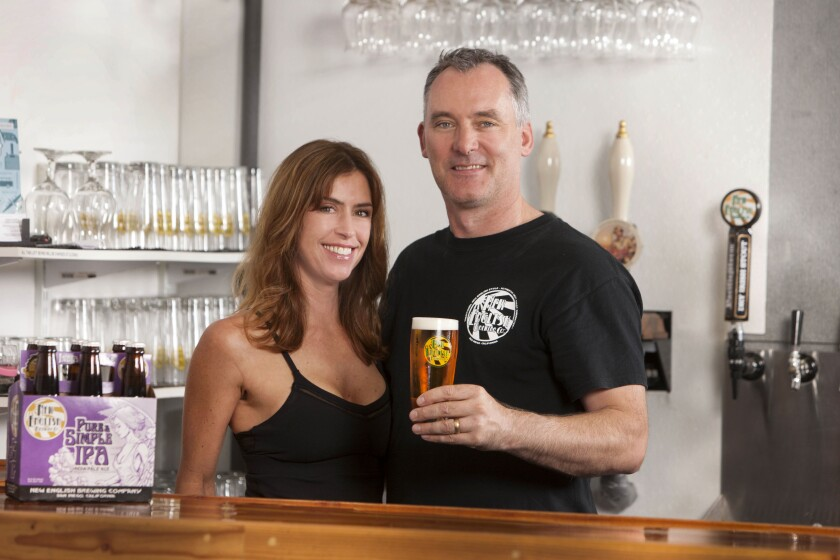 New English Brewing owners Simon and Nina Lacey, Del Mar residents.