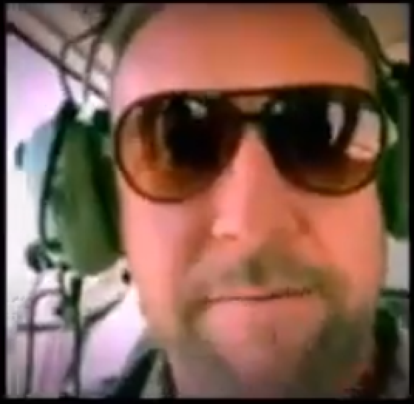 Rep. Duncan Hunter shared videos on his social media throughout his trip in Yuma, including this video of his ride on a border patrol helicopter.