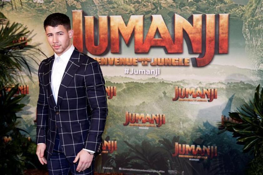 """El actor estadounidense y miembro del reparto de la película """"Jumanji: Welcome to the Jungle"""", Nick Jonas. EFE/ARCHIVO"""