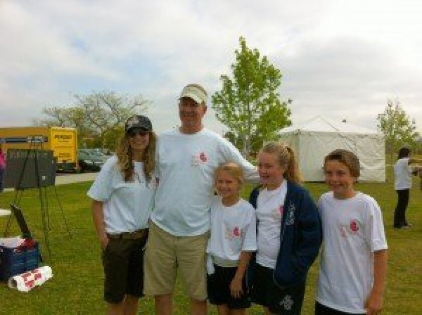 Craig Ramseyer with his family.