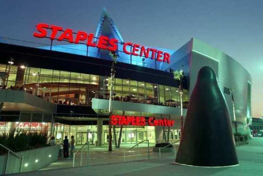 The company that owns the Staples Center in downtown Los Angeles is being put up for sale.