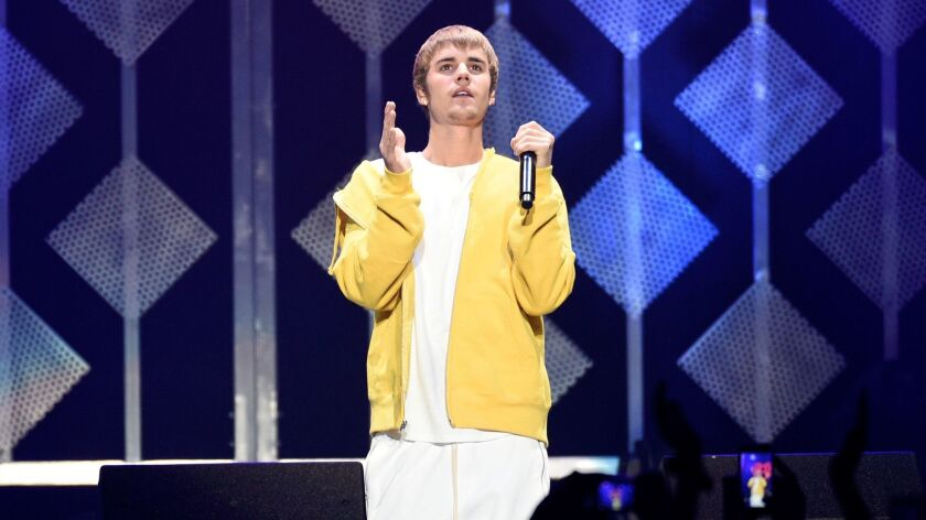 Justin Bieber performs this month at KIIS-FM's Jingle Ball concert in Los Angeles.