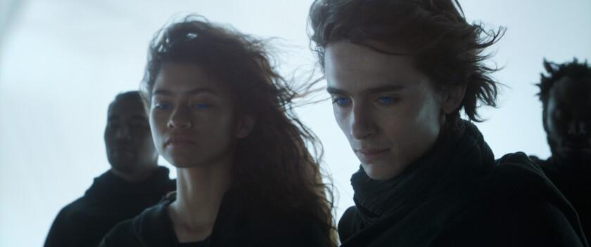 """Zendaya and Timothee Chalamet in """"Dune"""""""