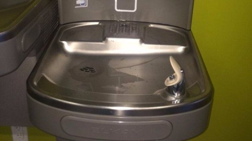 School drinking fountain.