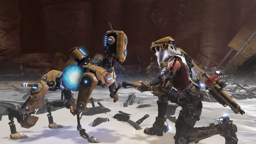 """Companionship is a robotic dog in """"ReCore,"""" coming soon to the Xbox One."""